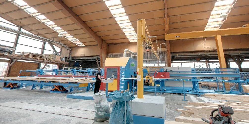 Abbund-Maschine © Elsässer Holzbauwerte
